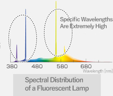 Spectral Distribution of a Fluorescent Lamp
