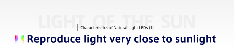 Characteristics of Natural Light LEDs (1)Recreating Sunlight