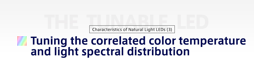 Tuning the correlated color temperature and light spectral distribution