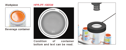 Imaging the bottom surface of a beverage container Condition of container